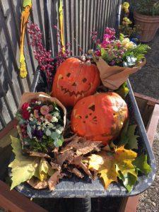 Halloween Pumpkin cart